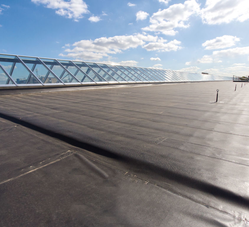Sanierung einer Industriedachfläche, Krefeld
